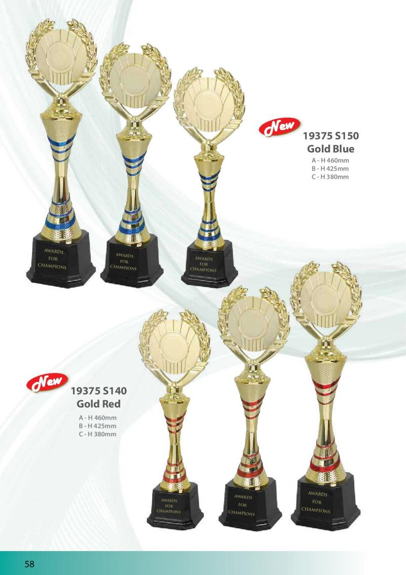 19375 Gold Red | Awards For Champions | Will Global Trading