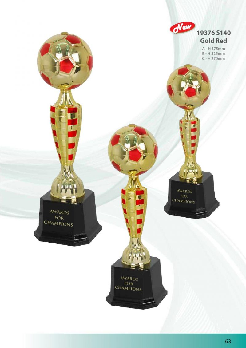 19376 S140 Gold Red | Awards For Champions | Will Global Trading